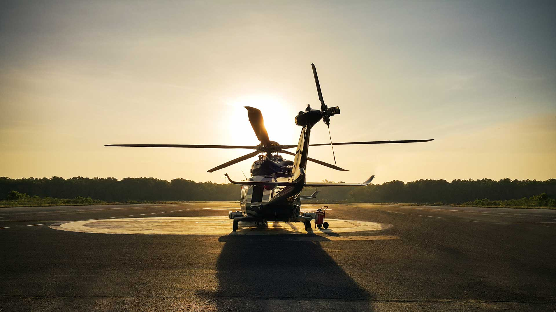 Helicopter transfer crews or passenger to work in offshore oil and gas industry